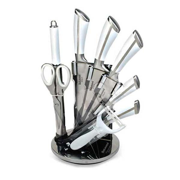 سرویس چاقوی 9 پارچه استیل دلمونتی مدل DL1520