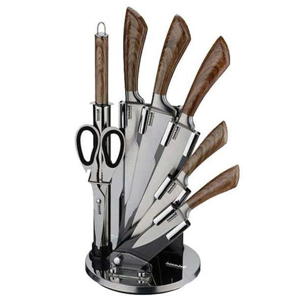 سرویس چاقوی 8 پارچه استیل دلمونتی مدل DL1520