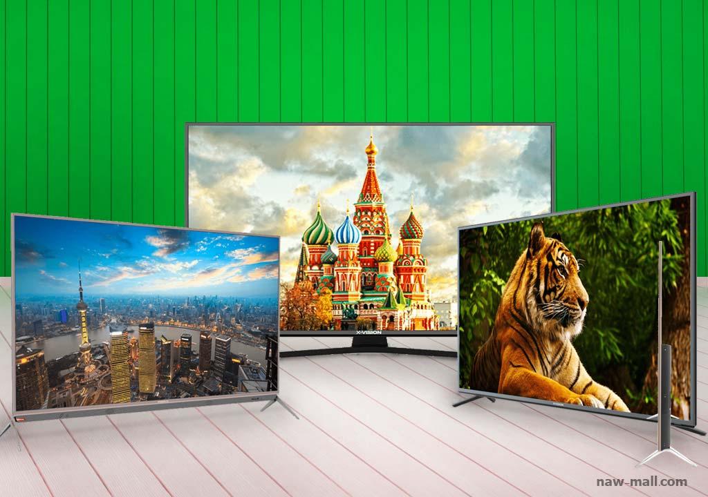 فروش کلیه تلویزیون های ال ای دی برند ایکس ویژن در فروشگاه اینترنتی لوازم خانگی ناومال