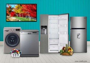 فروش کلیه لوازم خانگی برند ال جی LG در فروشگاه اینترنتی لوازم خانگی ناومال