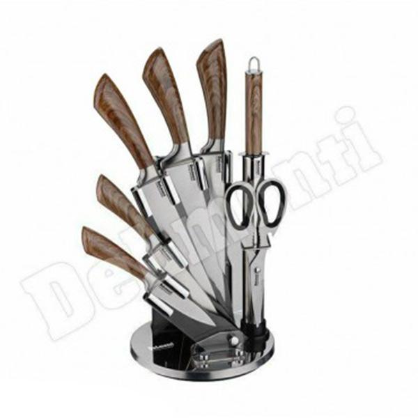 سرویس چاقوی 9 پارچه استیل دلمونتی مدل DL1530