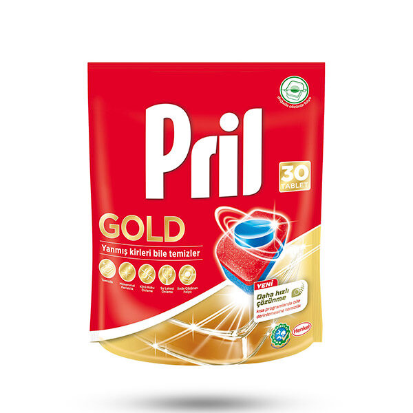 قرص ماشین ظرفشویی پریل pril مدل GOLD بسته 30 عددی
